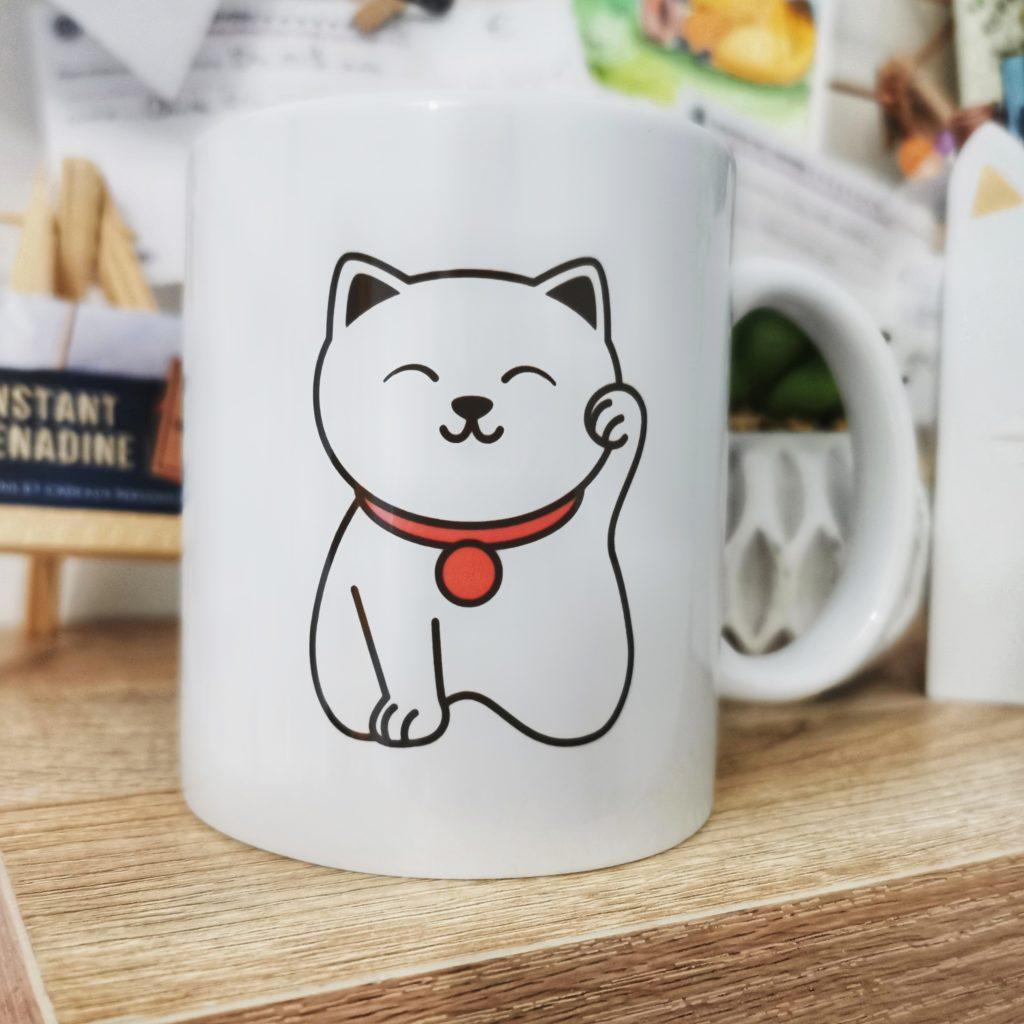 Mug chat japonais