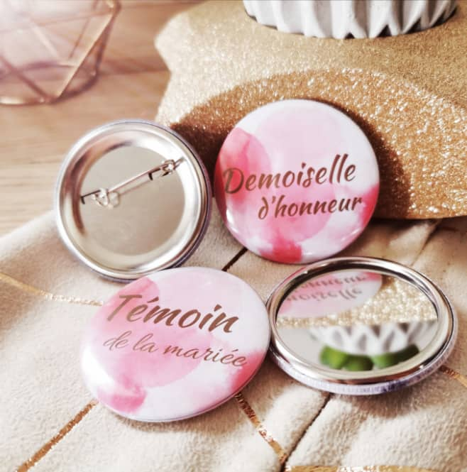 Badge miroir EVJF mariage
